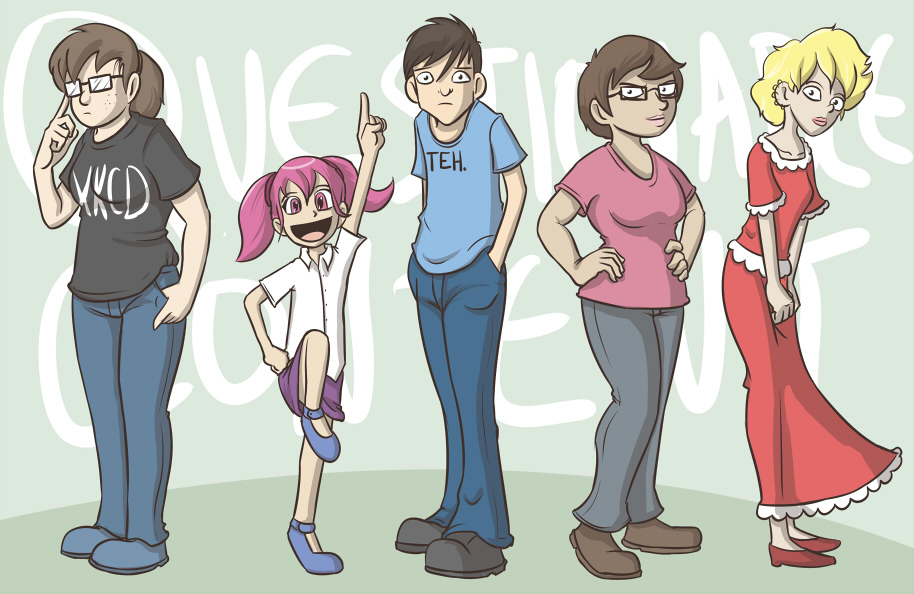 I wanted to see what Questionable Content characters looked like as Whompians
